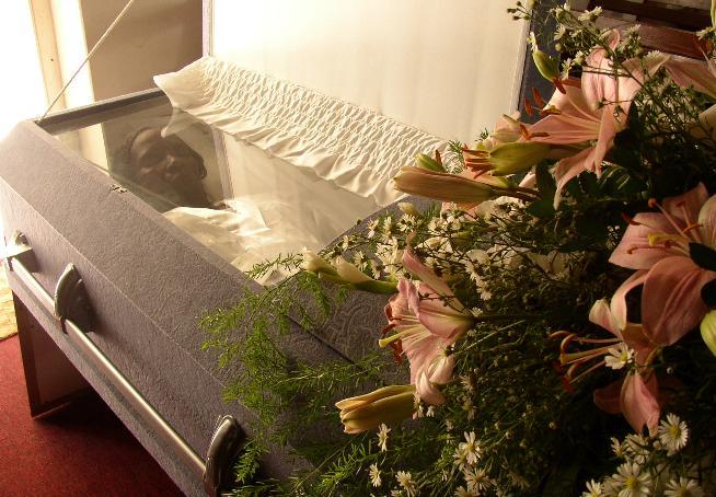 Rhoda Burns funeral, 2 Jan 2003