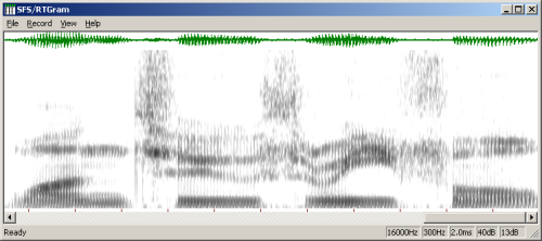 RTGRAM - Real-time Speech Spectrogram Display